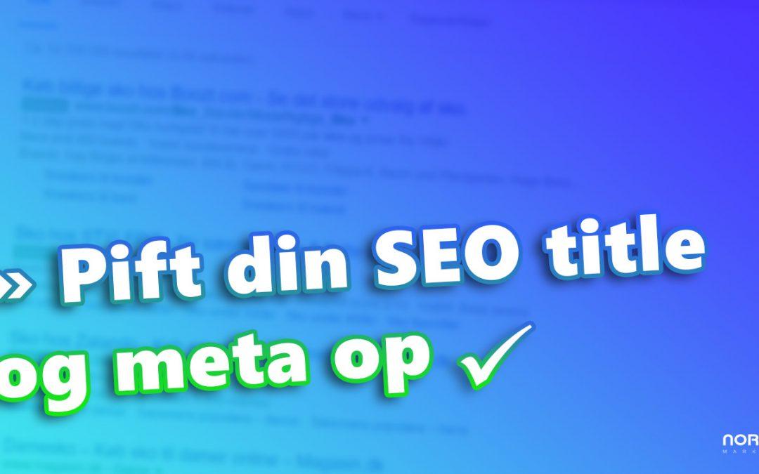 Brug HTML-symboler til at pifte din title op