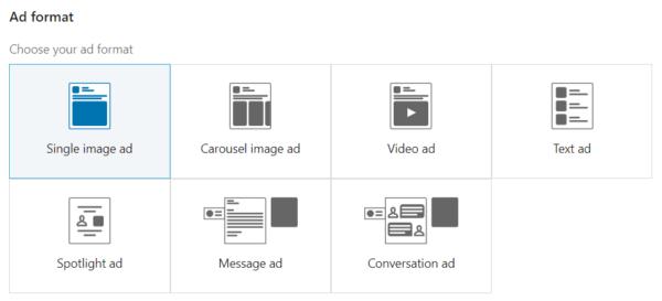 LinkedIn annonceformater